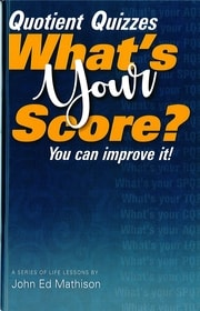 "John Ed's book ""Quotient Quizzes: What's Your Score?"""