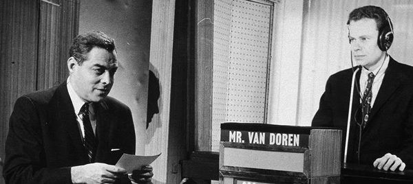 Charles Van Doren appearing on an episode of NBC's Twenty-One in the 1950s