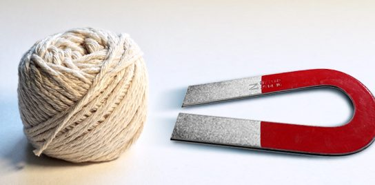 """A photo of a string and a magnet for John Ed Mathison's blog """"A String and a Magnet"""""""