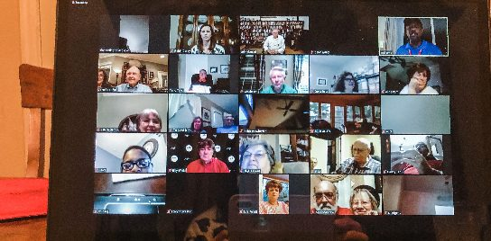 Video call during COVID-19 pandemic.