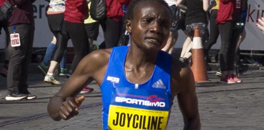 Joyciline demonstrating her athletic prowess.