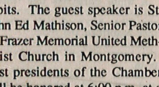 A typo identified John Ed Mathison as a saint.